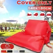 Pouf canapés couverture chaises pas de remplissage 420D imperméable à leau Oxford tissu chaise longue siège haricot sac bouffée canapé Tatami maison Camping en plein air