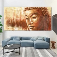 large size buddha poster print canvas painting golden buddha wall pictures for living room modern posters and prints home decor
