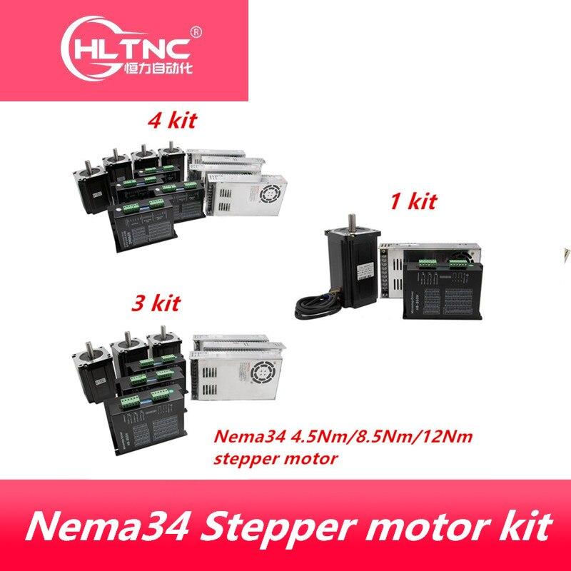 محرك متدرج Nema 34 4.5N 8.5N 12N.m ، مصدر طاقة لـ CNC ، DM860H e 400w60v ، شحن مجاني