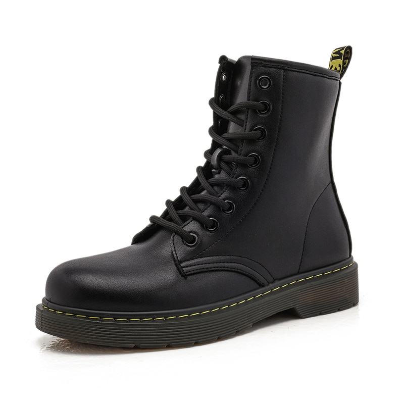 New Brand Women Martins Boots High Top Leather Shoes Women Autumn Winter Dr. Motorcycle Boots Black Couple Boots Ladies Shoes