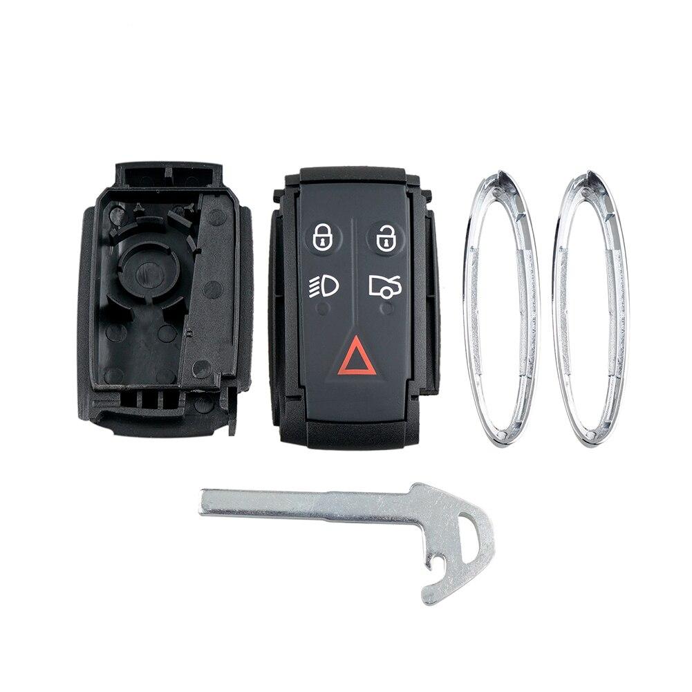 Nuevo estuche para llave de coche 5 botones mando a distancia Smart Key Case hoja para JAGUAR X tipo S XKR XF XK accesorios para automóviles