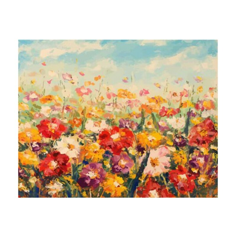 Pintura por números para adultos niños dibujos animados flores dibujo sobre lienzo Diy pintado a mano pintura al óleo decoración del hogar