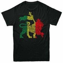 Een Liefde Leeuw Tops Tee T-shirt Rasta Weed Reggae Bob Marley Mode Plus Size T-shirt