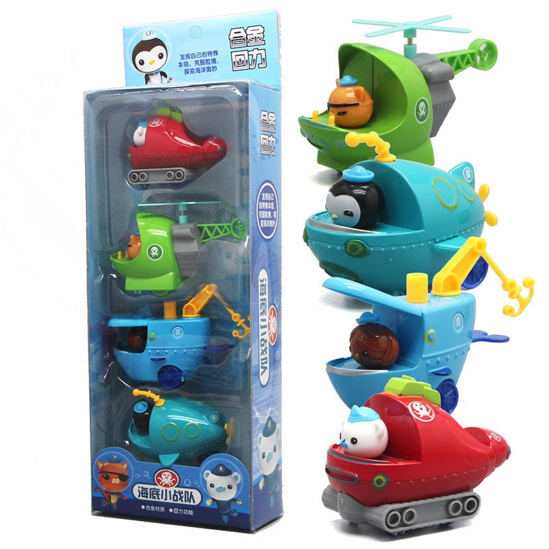 4 pçs/set Les Octonauts Octopod Octonauts Cracas Capitão Toy Figuras Peso Kwazii Shellington Dashi Ajustar Inkling Kid Melhor Presente