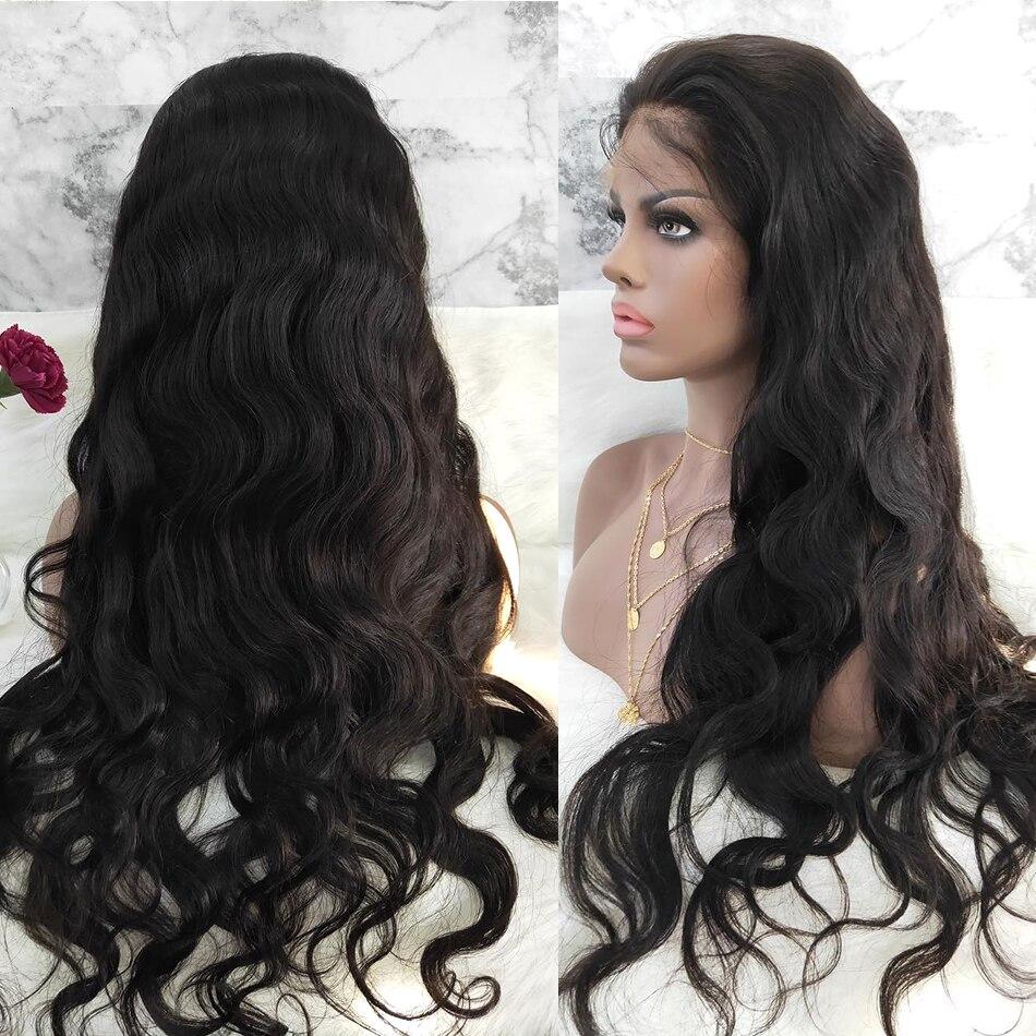 Wigirl onda do corpo 13x4 frente do laço perucas de cabelo humano brasileiro onda do oceano perucas de cabelo hd perucas frontal do laço pré arrancadas linha fina