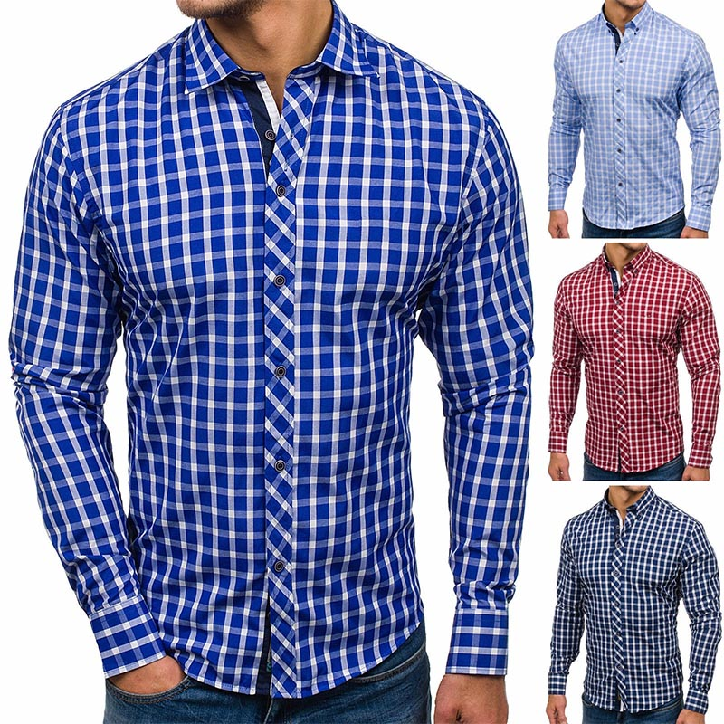ZOGAA 2020 Casual fashion dress shirts New shirt men street wear Polyester long sleeve 4 color plus size S-XXXL