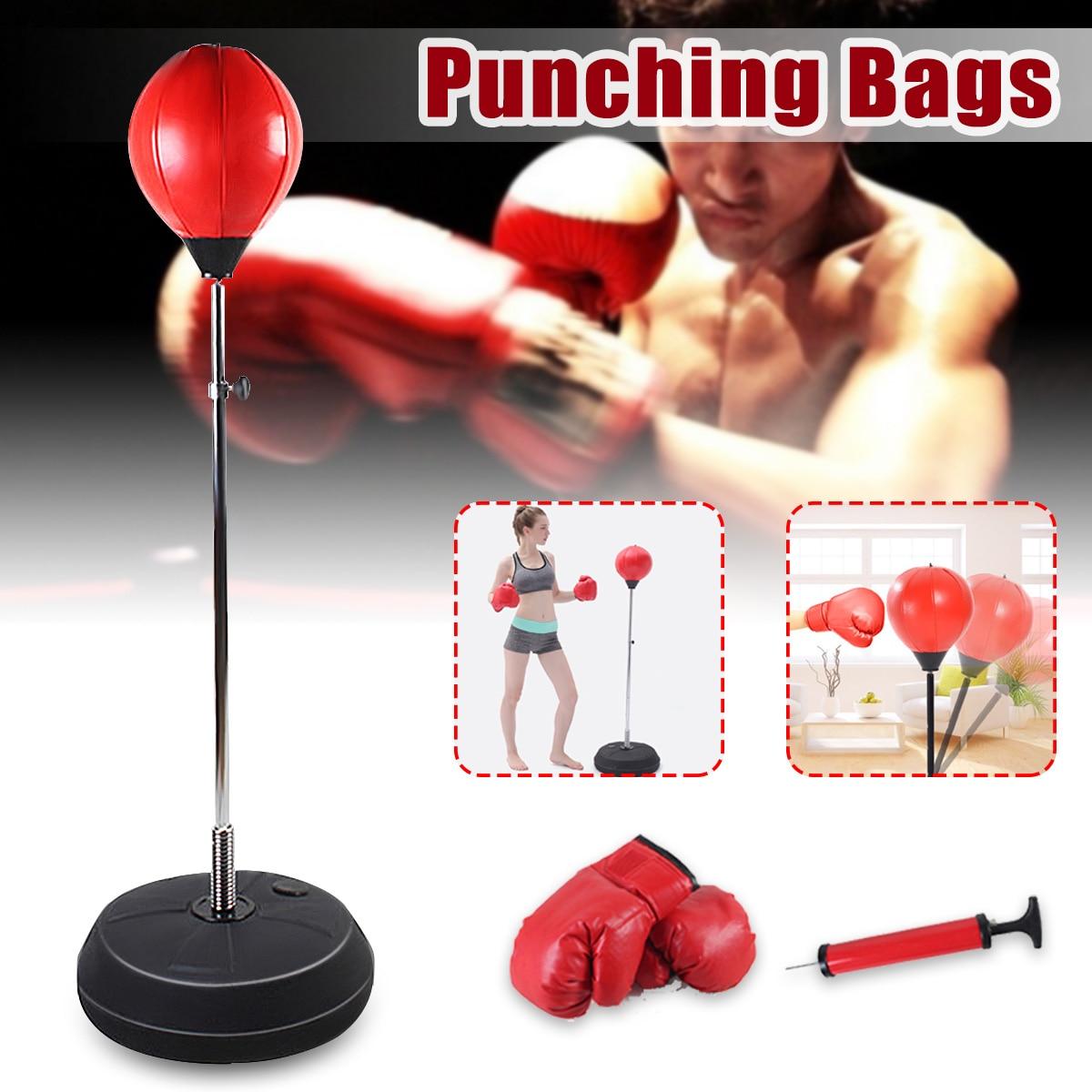 Bolas de velocidad de pera de boxeo de Fitness ajustable, bolsa para boxeo relajada, bolsa para boxeo a prueba de golpes, bolsa de velocidad para guante de adulto + bomba + pelota