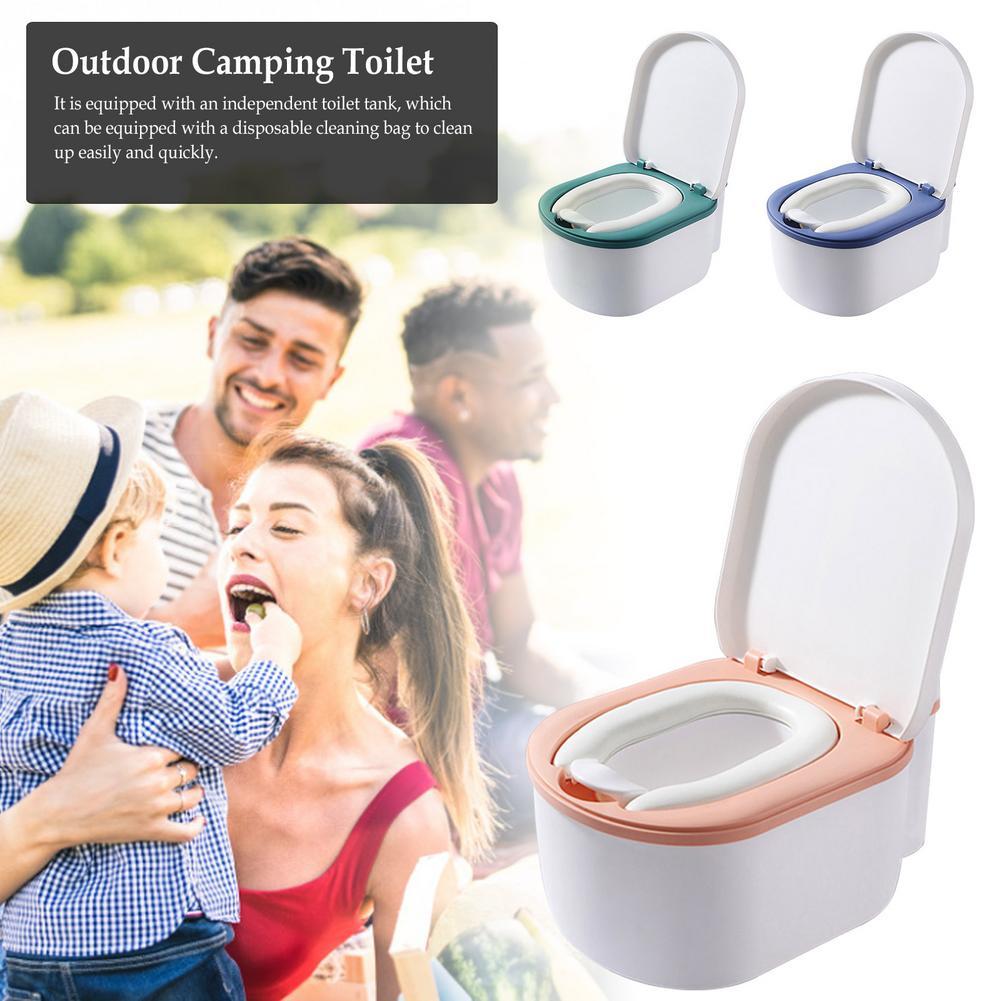 المرحاض في الهواء الطلق التخييم المحمولة الحمام كرسي مرحاض مستقرة مريحة قريبة البراز نتن وعاء المرحاض عالية القوة