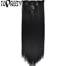 TOPREETY-extensiones de cabello B5, fibra sintética resistente al calor, 130gr, recta, 7006