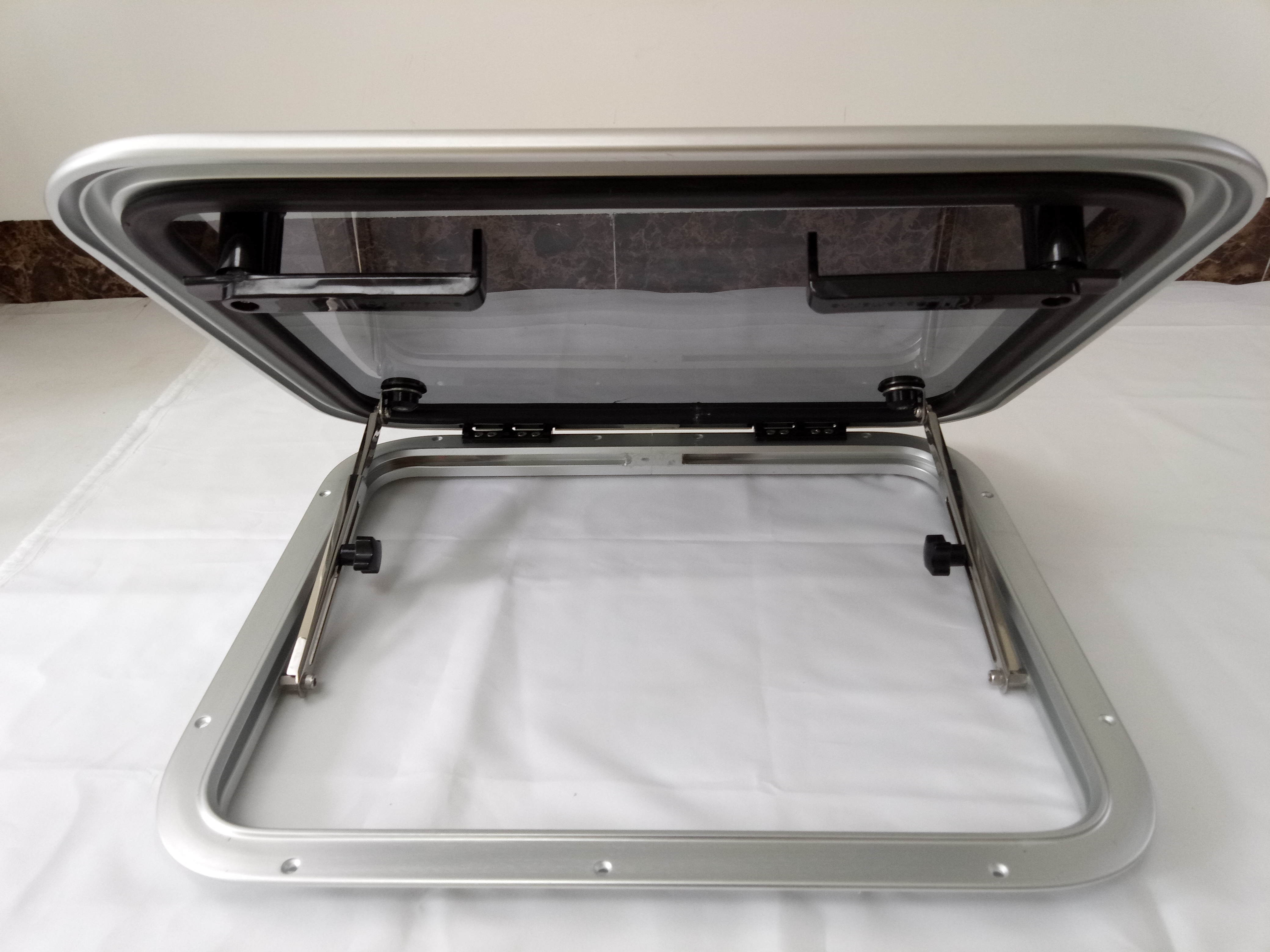 RV Aluminum Rectangular Hatch Window Porthole Porthlight With Tempered Glass 5 Size For  Marine Boat Yacht camper accessories enlarge
