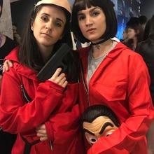 2020 Lcdp Kostuum Original Edition La Casa De Papel Rood Kostuum Jumpsuits Cosplay Dali Pak Geld Heist Hot Tv Series