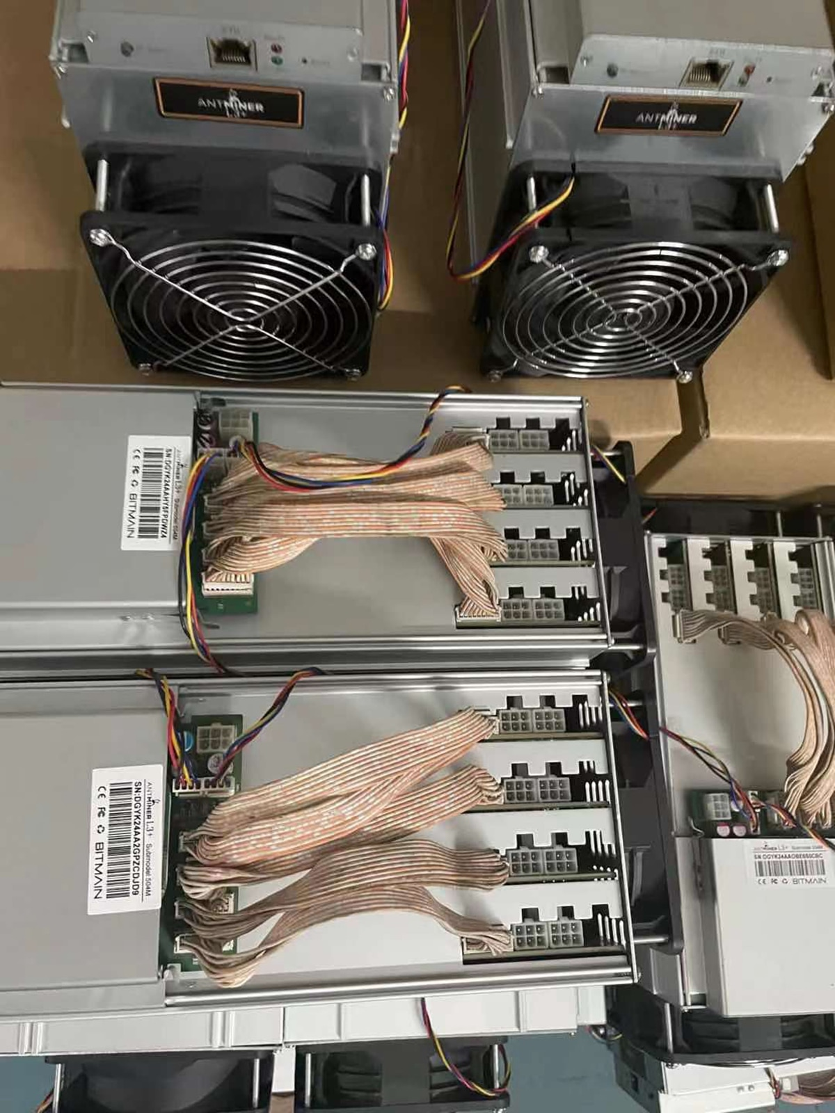 Bitmain Antminer L3+ with PSU Scrypt Asic used bitcoin miner bitminer/L3+ Crypto Hashrate Board Ready to Ship enlarge