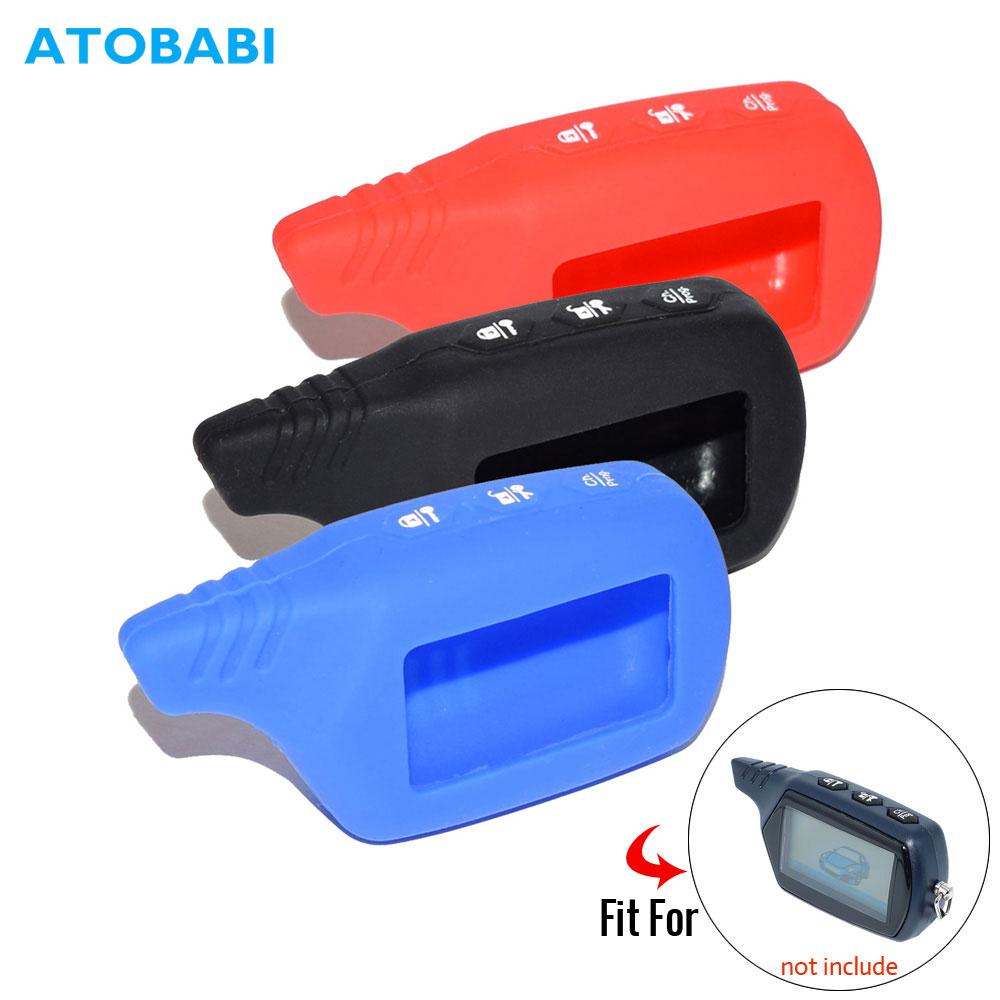 Silicone Key Case For Starline B9 V7 A61 A91 Starlionr Two Way Car Alarm LCD Remote Control Fob Cover Transmitter Keychain Bag