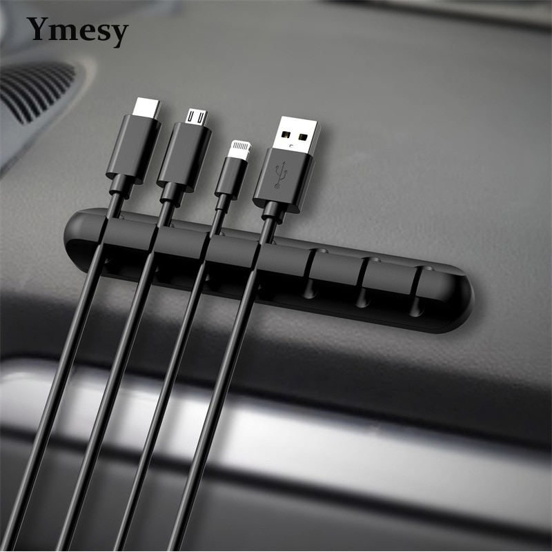 Ymesy Under Desk Cable Management Tray Line Tie Fixer Clip Phone Charge Cord Headphone Wire Holder