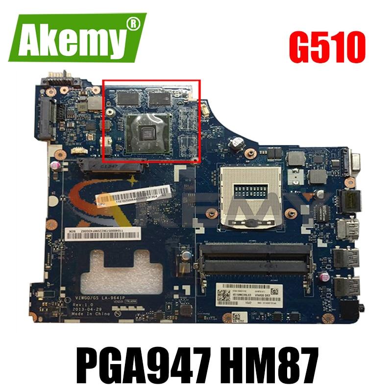 Akemy VIWGQ/GS LA-9641P اللوحة لينوفو G510 اللوحة الأم PGA947 HM87 بطاقة الرسومات HD8560/R5 M230 100% اختبار العمل
