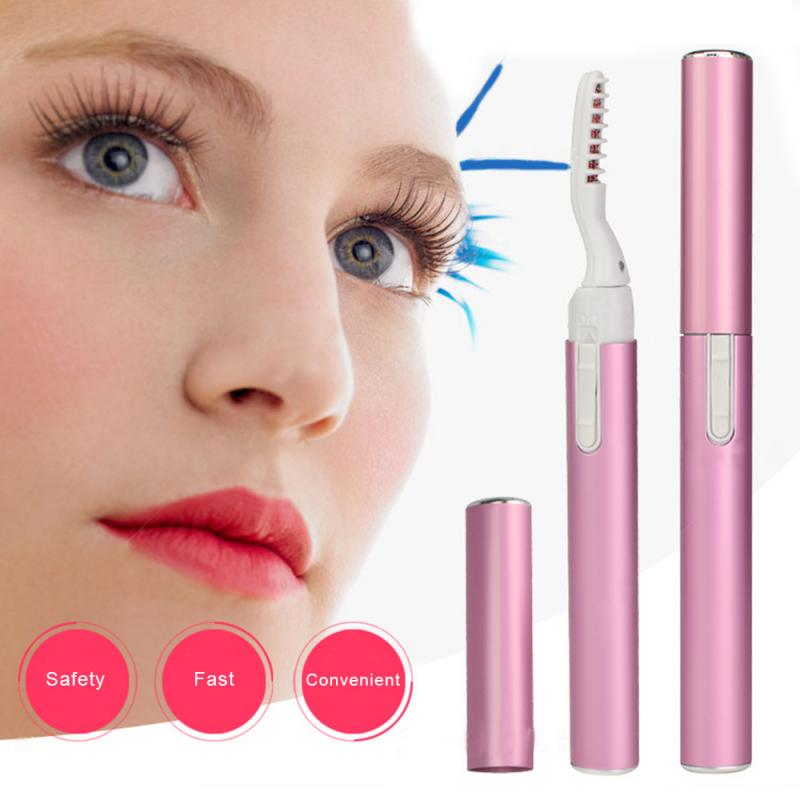 Portable Pen Style Electric Heated Eyelash Curler Long Lasting Eyelash Perming Curling Extension Sup