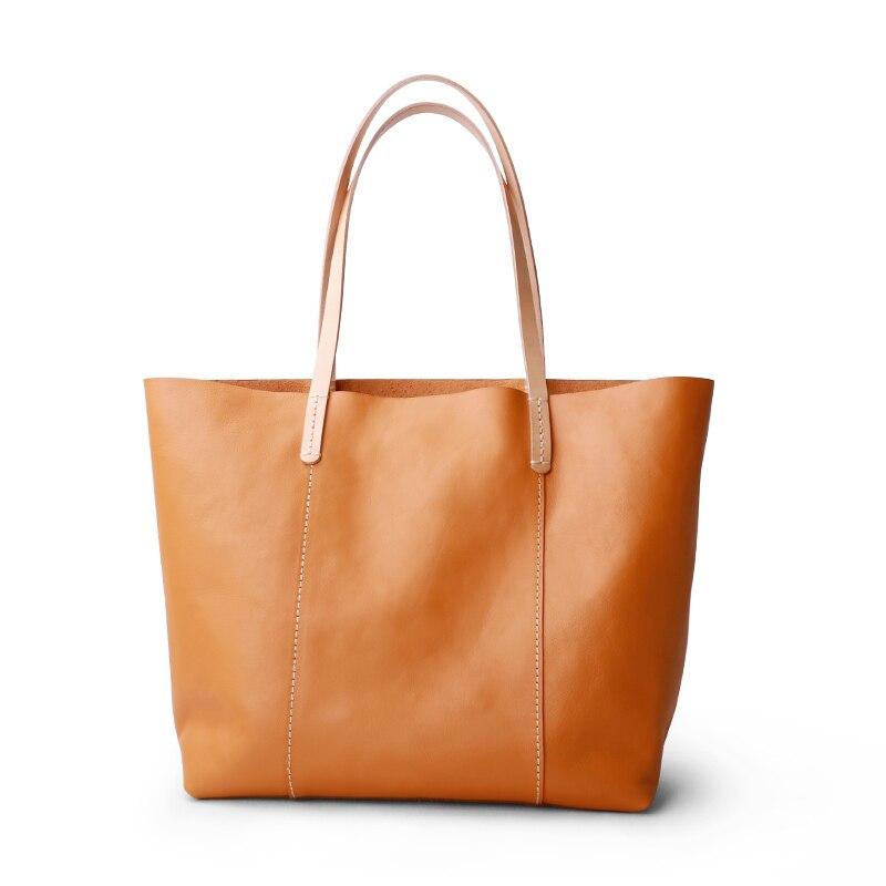 المرأة حقيبة جلد طبيعي فاخر حقيبة يد الإناث حقيبة اليد حقيبة سيدة جلد البقر الخضار دباغة الجلود حقائب كتف التسوق