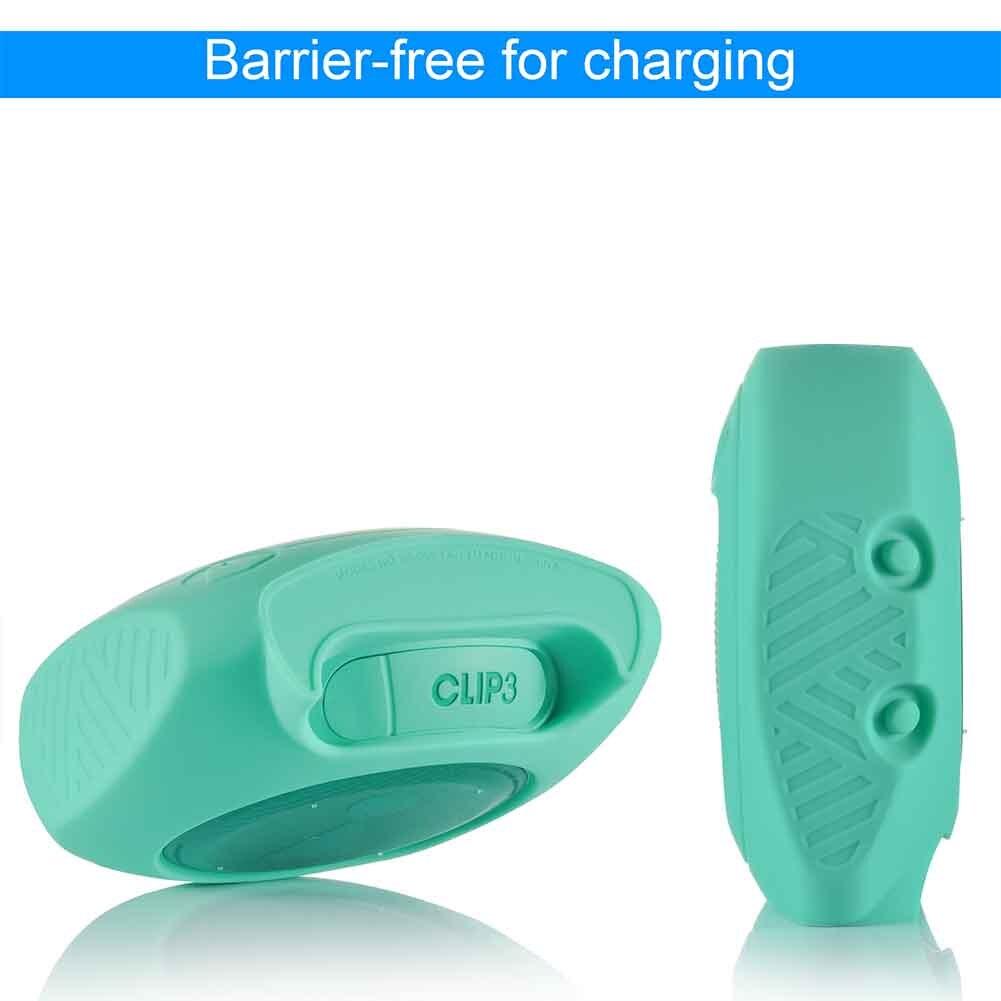 Cubierta protectora de silicona Bluetooth resistente al polvo, altavoz antideslizante, resistente al agua para JBL Clip 3