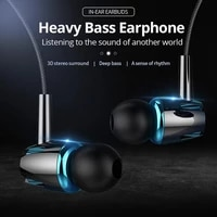 in ear adjustable sound heavy bass with microphone k song mobile phone headset comfortable noise cancelling earplugs