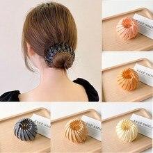New Fashion Women Bun Hair Claw Horsetail Buckle Hair Clip Bird Nest Expanding Hair Accessories Female Ponytail Hair Accessories