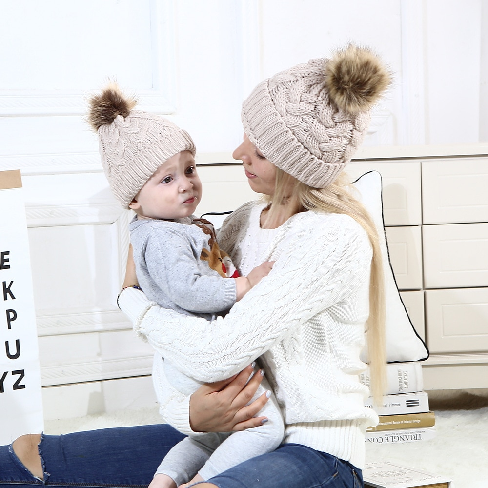 Autumn and Winter Hat Hat for Boy and Girl Beanie Children's Knitted Wool Cap Newborn Baby Accessories