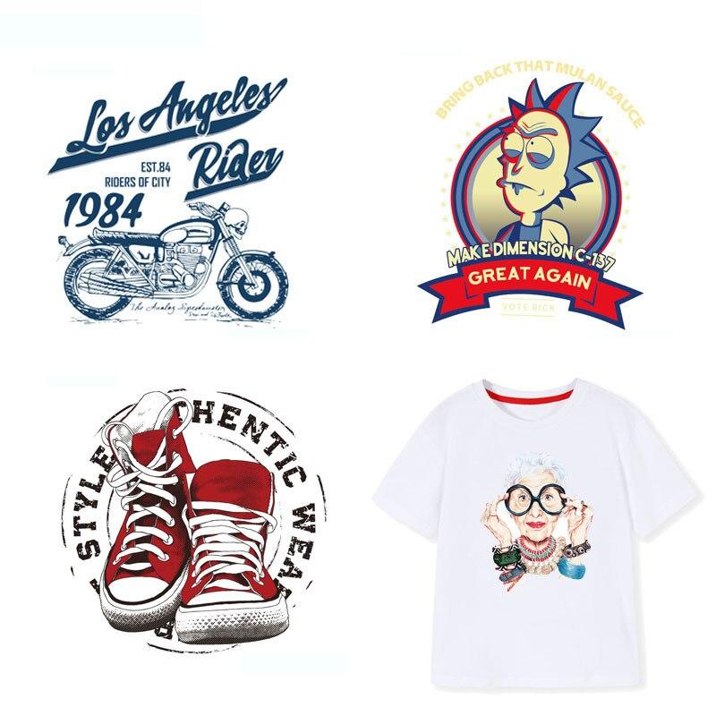 Parche de hierro con letras, parches Punk de moda para motocicleta para calcomanías para ropa, aplicaciones de transferencia de calor para ropa, apliques DIY