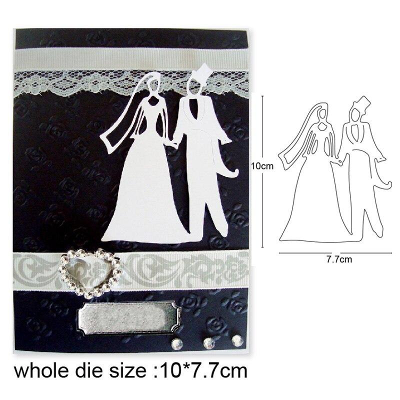 Nuevo diseño de troquel de corte de Metal para manualidades 2020, nueva decoración para parejas de bodas, álbum de recortes, tarjeta de papel para álbum, troquelado artesanal