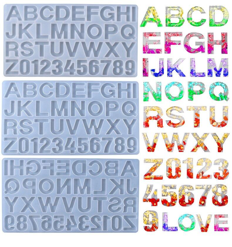 1 шт. английский pinyin Алфавит силиконовая форма Сделай Сам ювелирные изделия ручной работы Подвеска из смолы с цифрами
