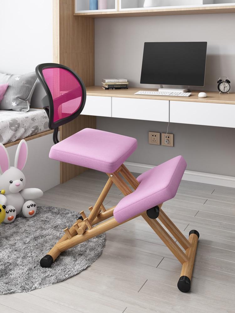 كرسي مريح للمنزل والمكتب كرسي راكع يعمل بالتوازن كرسي هزاز راكع لوضع مثالي للأطفال مع مسند ظهر