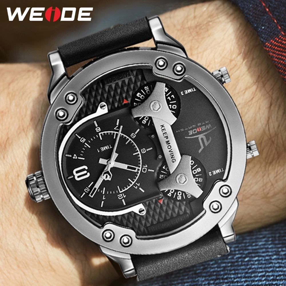 WEIDE-ساعة يد أنالوج للرجال ، كوارتز عسكري ، بلايز ، علامة تجارية فاخرة ، أعمال ، منطقة زمنية متعددة ، 2020