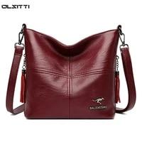 female shoulder messenger bag ladies soft leather handbag crossbody bags for women 2021 handbag sac fashion tassel bucket bag