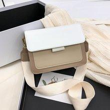 Designer Contrast Color Soft Leather Crossbody Shoulder Bags for Women 2021 Summer Travel Handbag Fa
