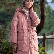 Luxury womens down coats with hood miegofce 2019 겨울 아웃웨어 캐주얼 웜 탑 브랜드 자켓 플러스 사이즈 핑크 롱 루즈
