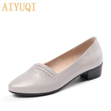 AIYUQI 2021 New Formal Women Shoes Genuine Leather Women Shoes Plus Size 41 42 Comfortable Shoes For