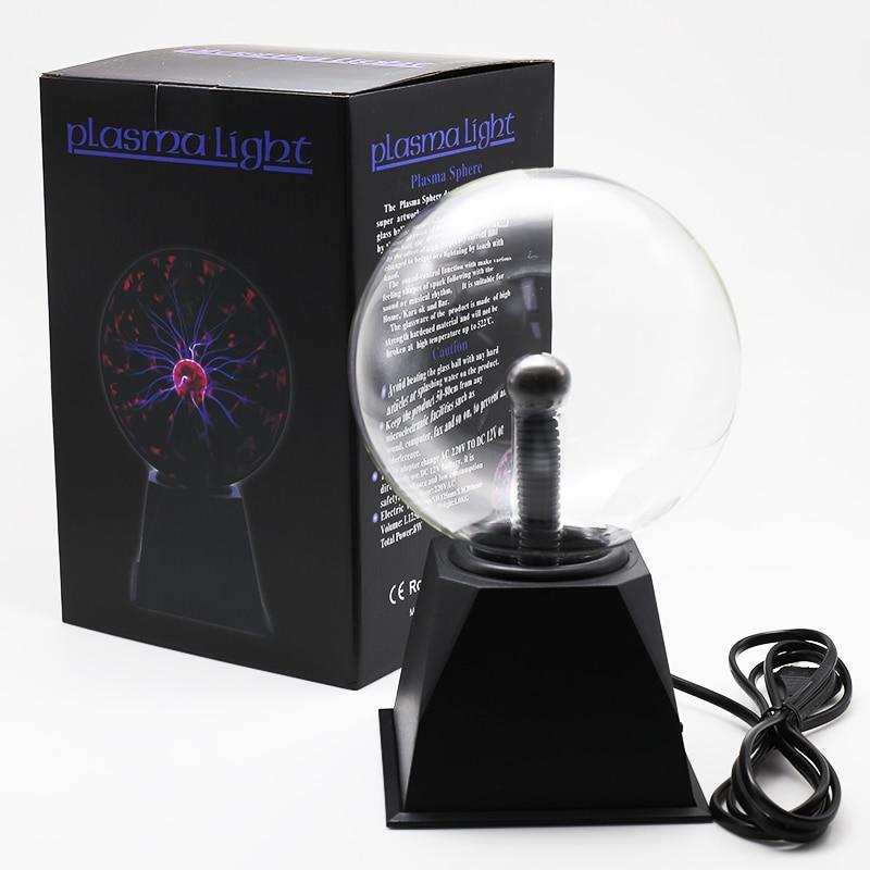 Novelty Magic Crystal Plasma Ball Touch Lamp 220V LED Night Light Child Nightlight Birthday Christmas Kids Decor Gift Lighting
