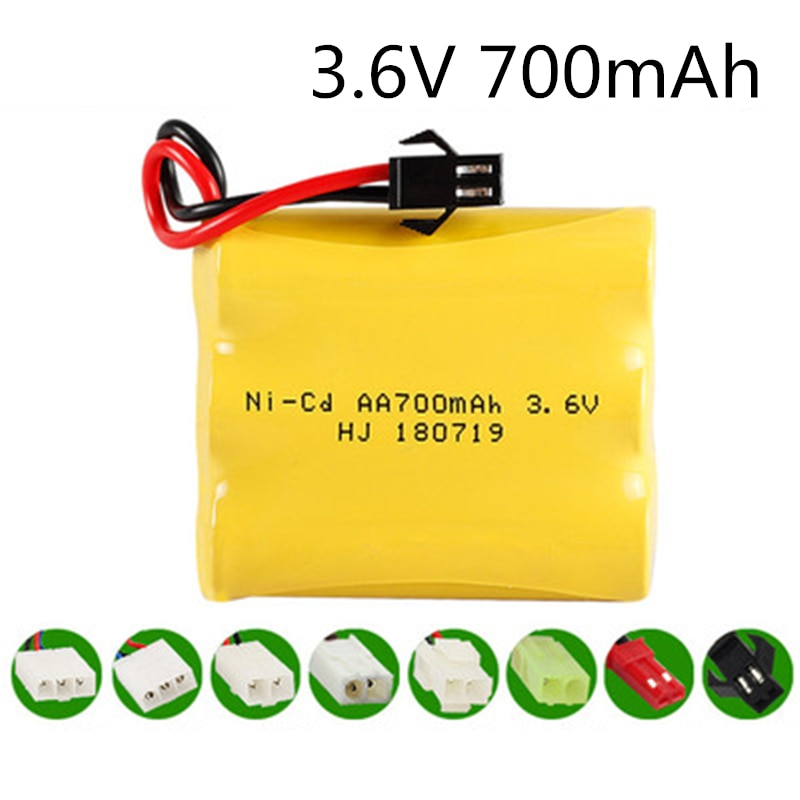 3,6 V 700mah AA NI-CD NiCD batería 3,6 V Paquete de batería para RC coche pistola tanque camiones trenes barco RC juguete modelo batería 3,6 V