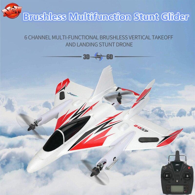 Planeador RC de ala fija multifunción sin escobillas profesional 2,4G 6CH 3D/6G V modo Aerobatic EPO Control remoto RC avión RTF