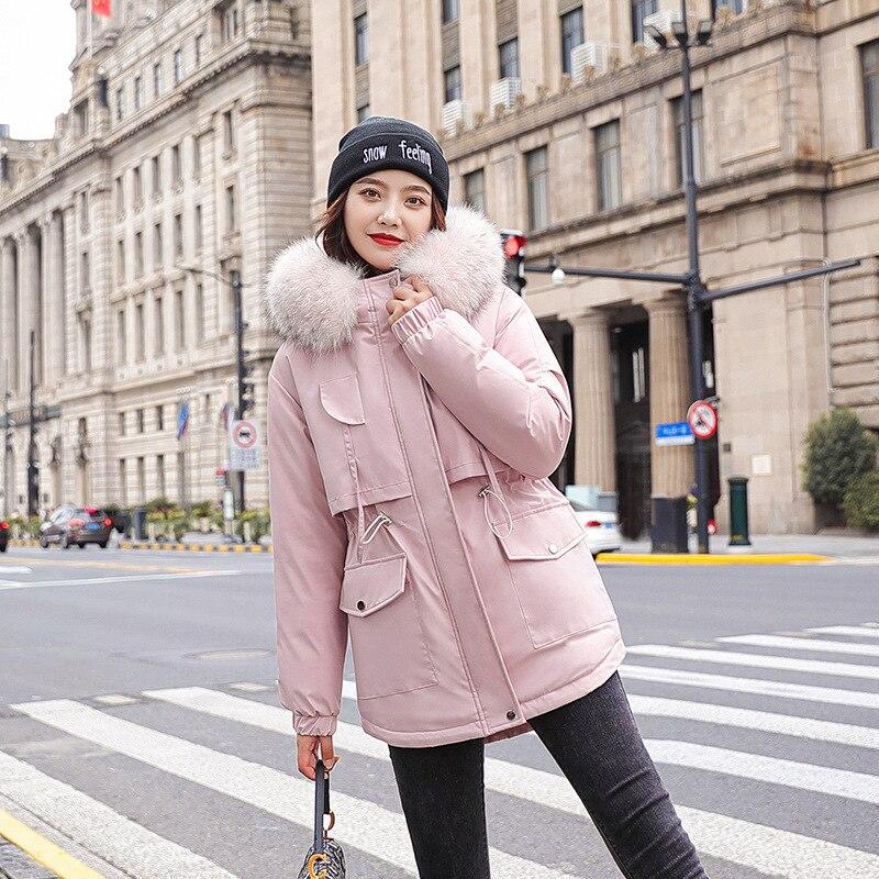 Плюшевые женские парки Sustans на осень и зиму, женское короткое стильное приталенное пальто с большим пушистым воротником и капюшоном, офисны...