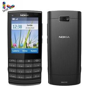 Оригинальные мобильные телефоны Nokia X3-02, GSM, 3G, Wi-Fi, Bluetooth, камера 5 Мп, Поддержка русской клавиатуры, Восстановленный разблокированный сотовый телефон