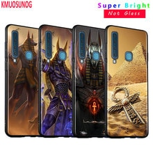 Black Silicone Cover Egypt Nefertiti Anubis Ankh for Samsung Galaxy A9 A7 2018 A8 A6 Plus A5 A3 Star 2017 2016 Phone Case