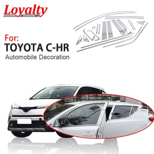 Loyalty for Toyota C-HR 2017 2018 2019 Window Bright Sequin Moulding Trim Stainless Steel Car Accessories