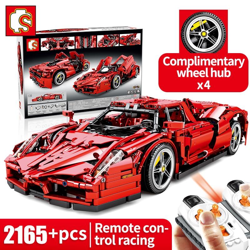 Sembo Block1:10 2165+PCS Racing Car Building Blocks Toys Technic RC Vehicle Boy Remote control car Block Bricks Sports car Toys