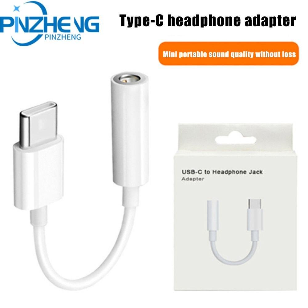 PINZHENG-Cable USB tipo C a conector de auriculares de 3,5mm, Adaptador de...