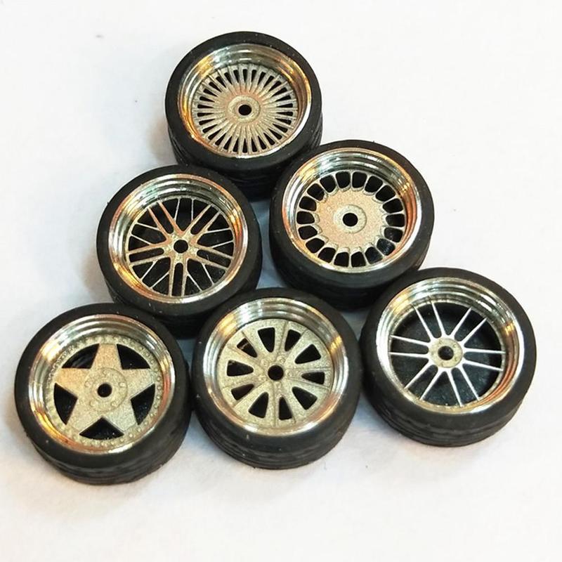 Автомобильные колеса, шины, модифицированные автомобильные диски из сплава, автомобильные диски, колеса 4 дюйма, один автомобиль для 1/64 года...