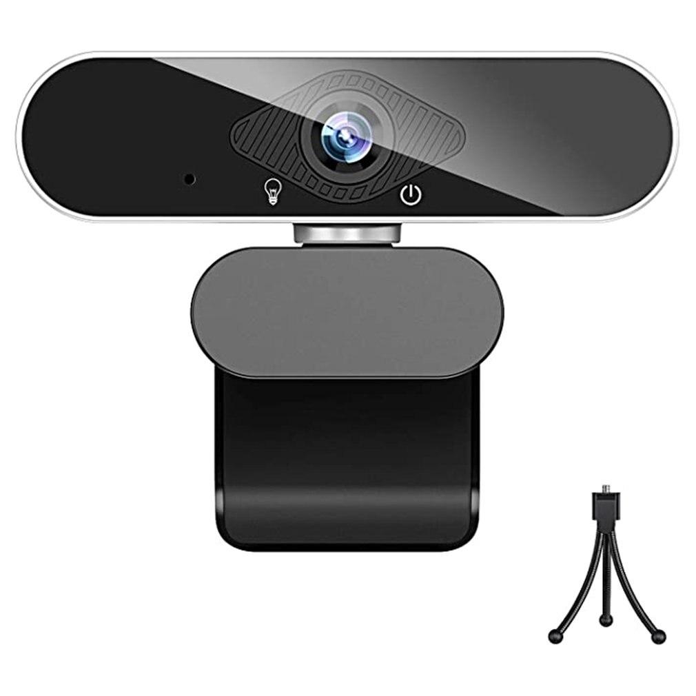 1080P عالية الوضوح كاميرا ويب فيديو Usb مع ميكروفون محرك الحرة البث المباشر الجمال الملحق ضوء كاميرا الكمبيوتر