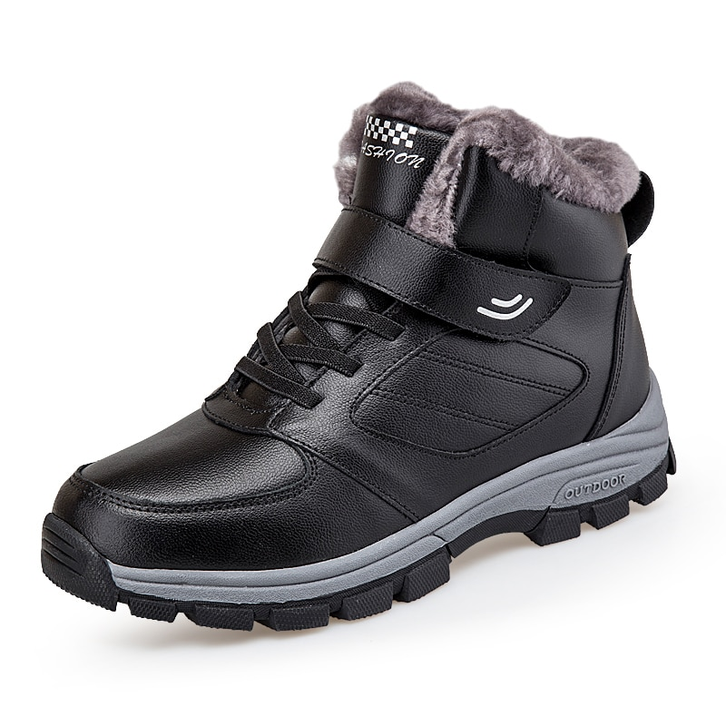 Winter Men's and Women's New Outdoor High-top Snow Boots Cotton Shoes Warm and Velvet Couple Large Size Shoes