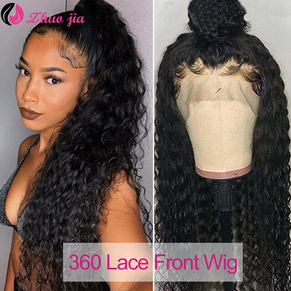 250 Density Water Wave Lace Front Wig 360 Frontal Curly Human Hair Wigs For Women Pre Plucked 13x6 HD
