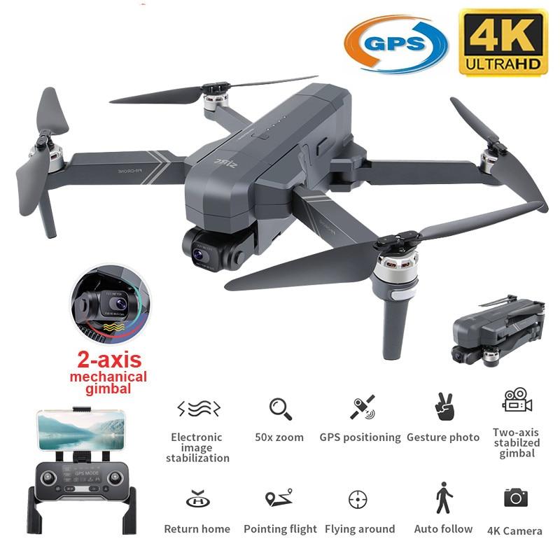 SJRC F11 PRO 4K Drone GPS 5G WI-FI 2 Ось Gimbal двойная камера Профессиональный RC Drone складной 50X зум бесщеточный Quadcopter SG906 PRO 2