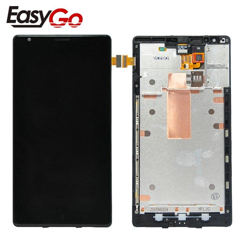 """6,0 """"pulgadas para Nokia Lumia 1520 pantalla LCD digitalizador pantalla táctil Panel montaje con marco envío gratis"""