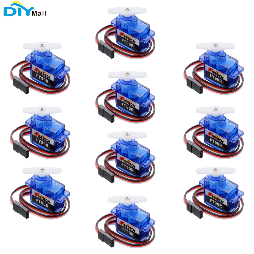 10pcs/lot Feetech FT90R Digital Servo 360 Degree Continuous Rotation Micro Servo for Arduino Smart Car Robot